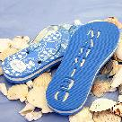 Blue Wedding Just Married Flip Flops